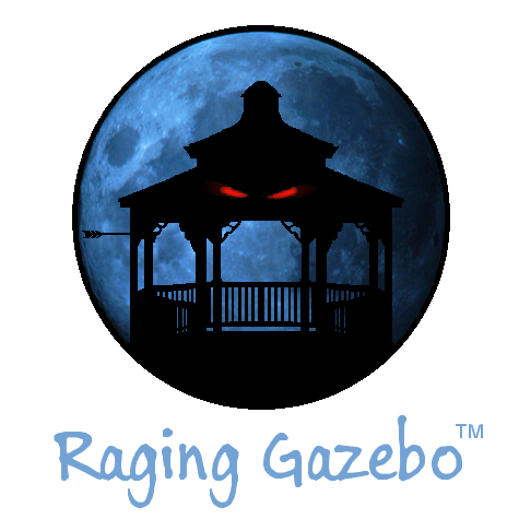 Raging Gazebo LLC logo w/ script title